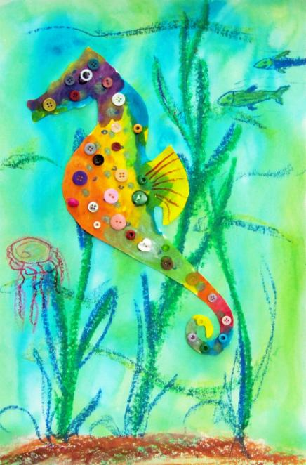 button seahorse