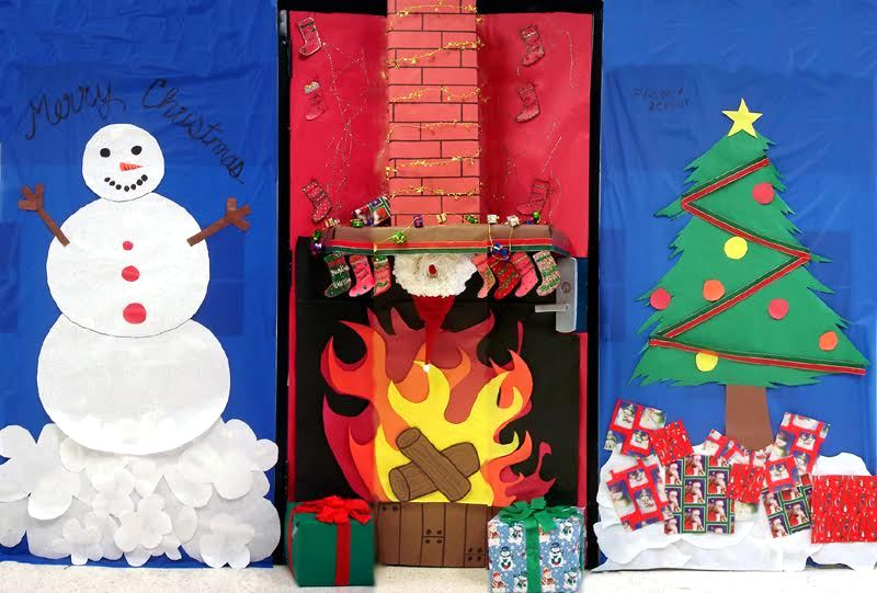 These impressive Holiday door decorations are so creative for Christmas and Winter themed decor that they will create a statement at your entryway/ front.