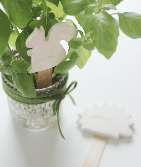 DIY squirrel plant marker