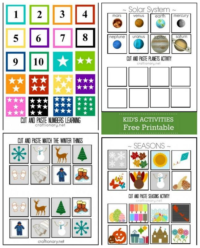 Free printable kids activities