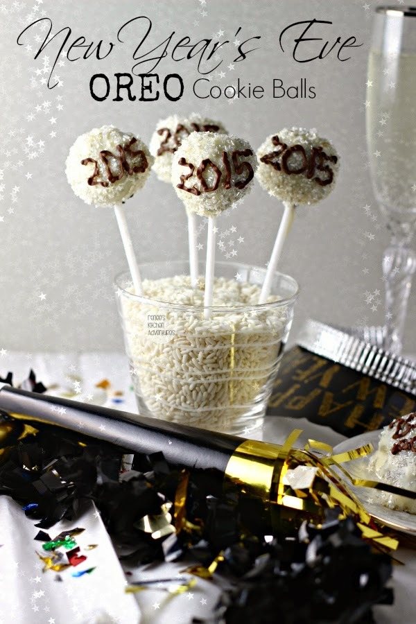 New Years Eve oreo balls recipe