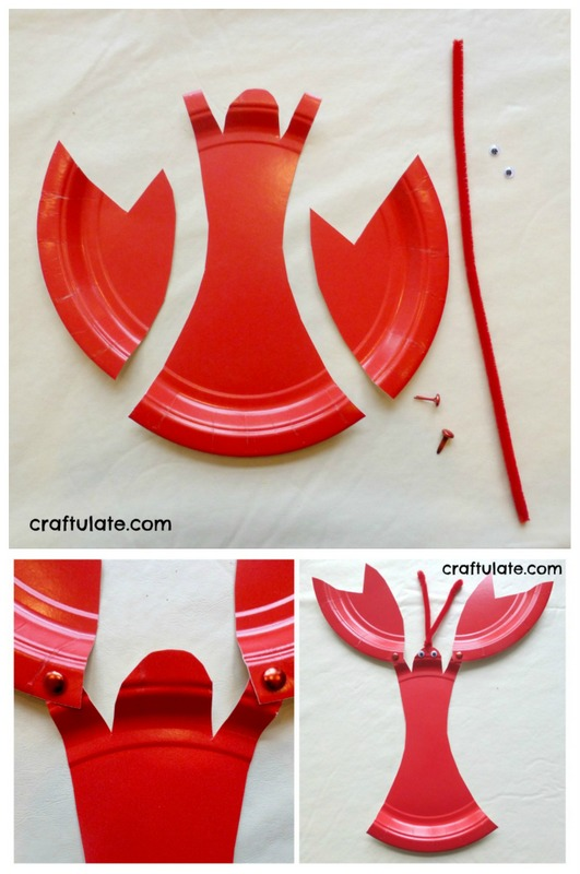 paper plate lobster & Craftionary
