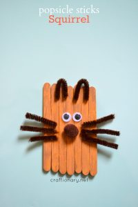 Popsicle sticks squirrel (Kids craft)