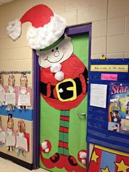 santa cum elf christmas door & Craftionary