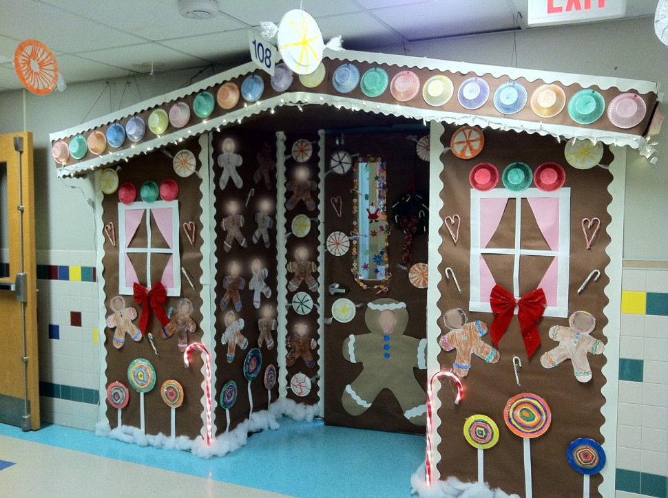 santa's factory christmas door