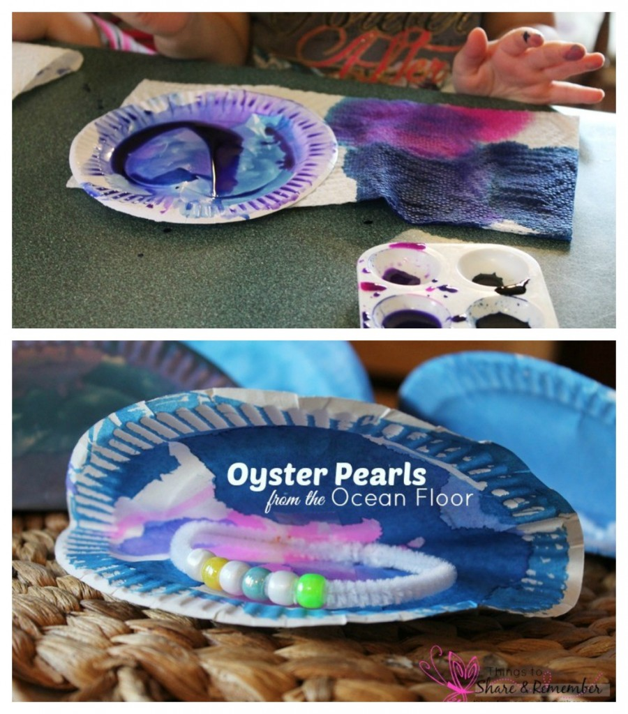 Sea creature- Oyster pearls kids craft