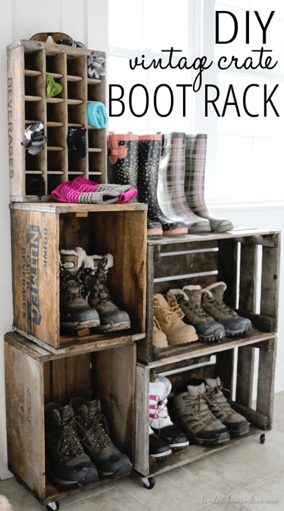 Snow boot organizer