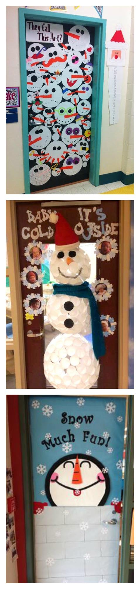 snowman door decoration & Craftionary
