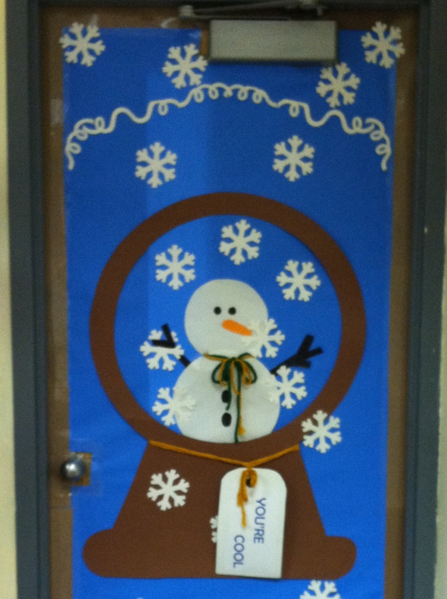 Craftionary Class door winter decorations