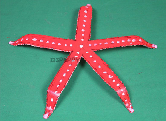 paper plate star fish