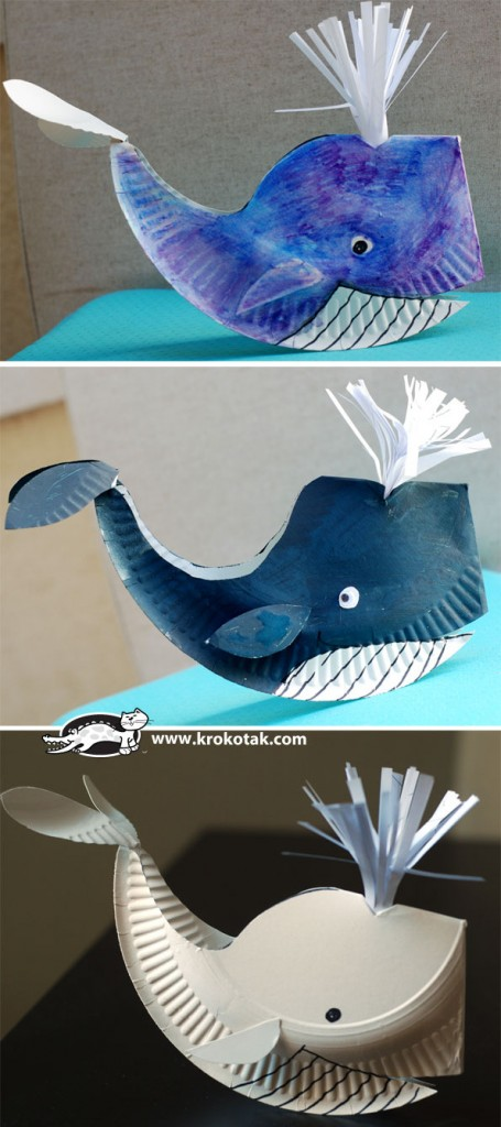 whale paper toy