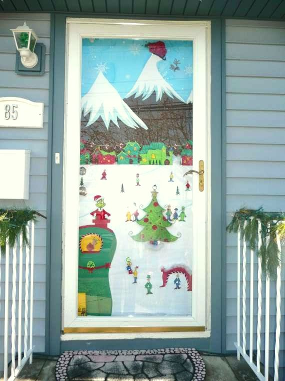 Winter Door & Frosted Morning Winter Door Wreath