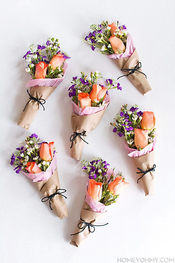 DIY-Mini-Flower-Bouquets