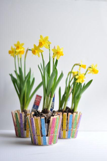 Glittered-Clothespins-Pot
