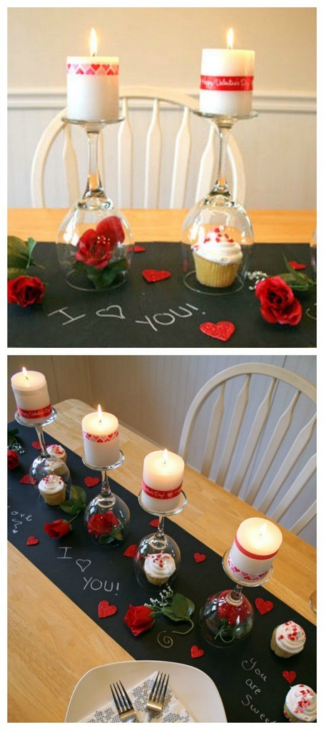 Valentines day candle light date