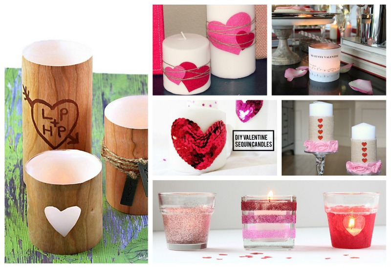 Decorative votives for Valentines Day
