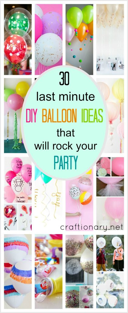 Last minute diy balloon ideas craftionary for Last minute party ideas