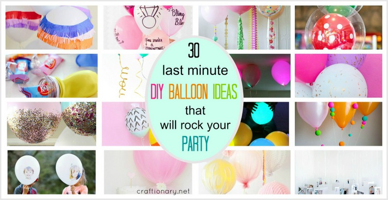 Craftionary for Last minute party ideas