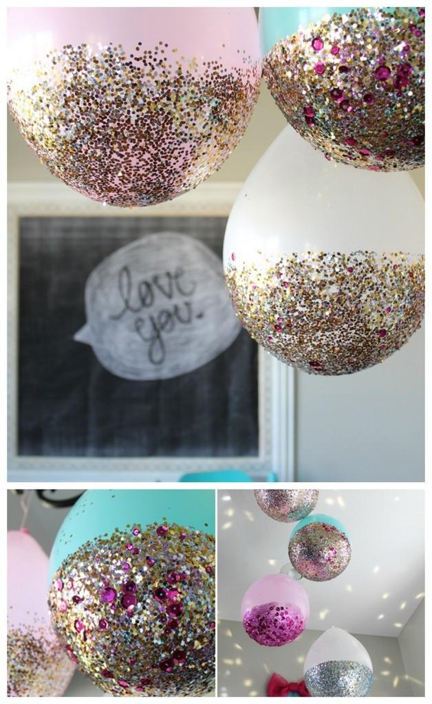 diy-glitter-balloons & Craftionary
