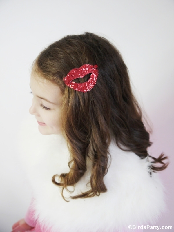 DIY kiss hair accessories