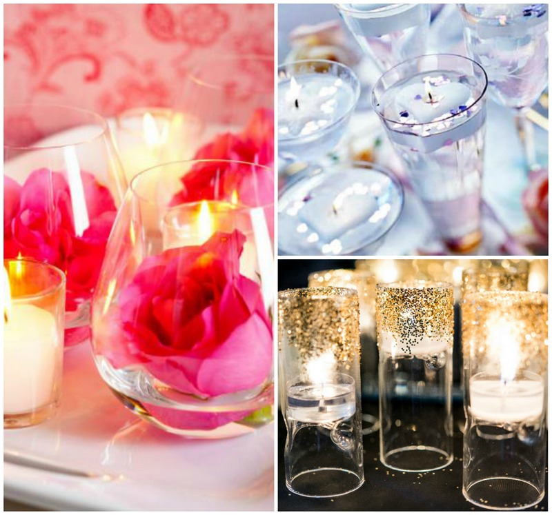 DIY romantic candles