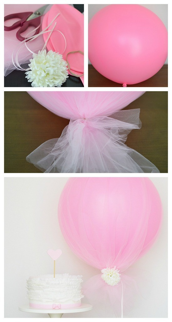 DIY tulle balloon