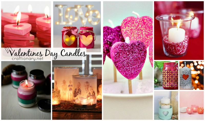 DIY valentine's day candles