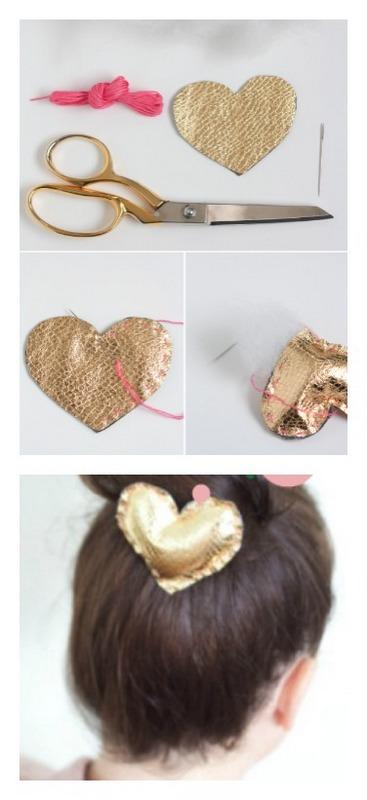 Heart hair style - heart of gold clip