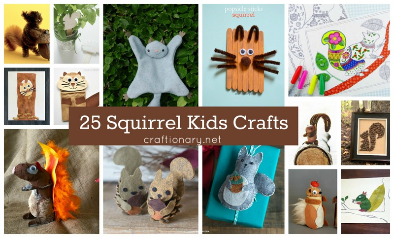 Kids squirrel crafts at craftionary.net