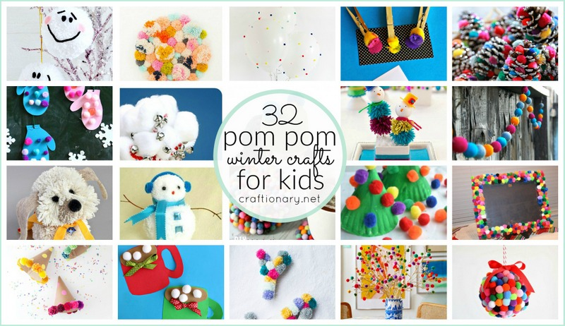 Pom pom winter crafts