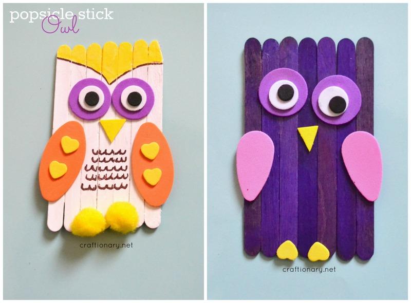 DIY owl toddler craft