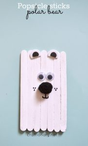 popsicle stick polar bear