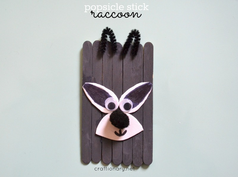 DIY raccoon craft