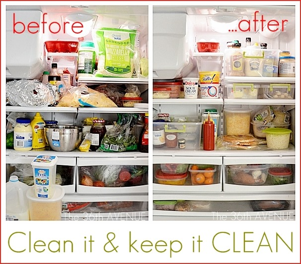 refrigerator clean and keep clean tips
