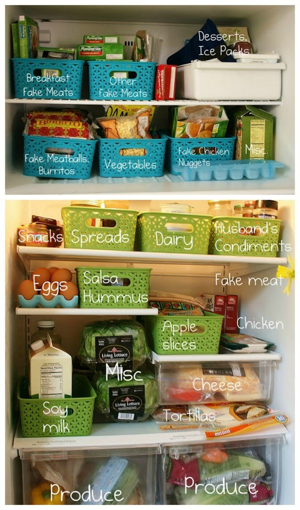refrigerator storage solutions with labels