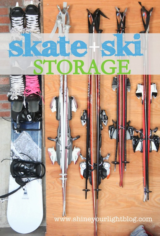 skates and skis organization idea