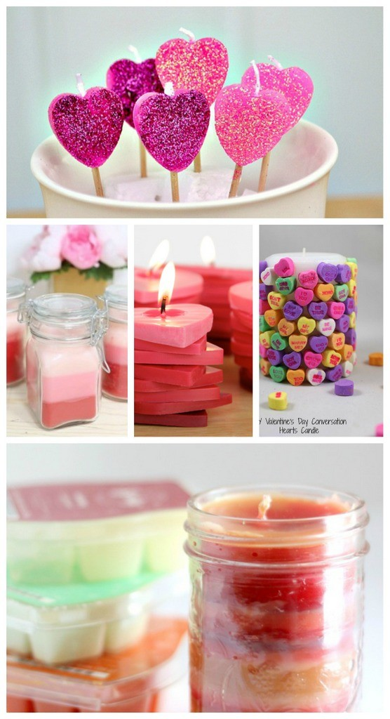 Valentines day handmade candles