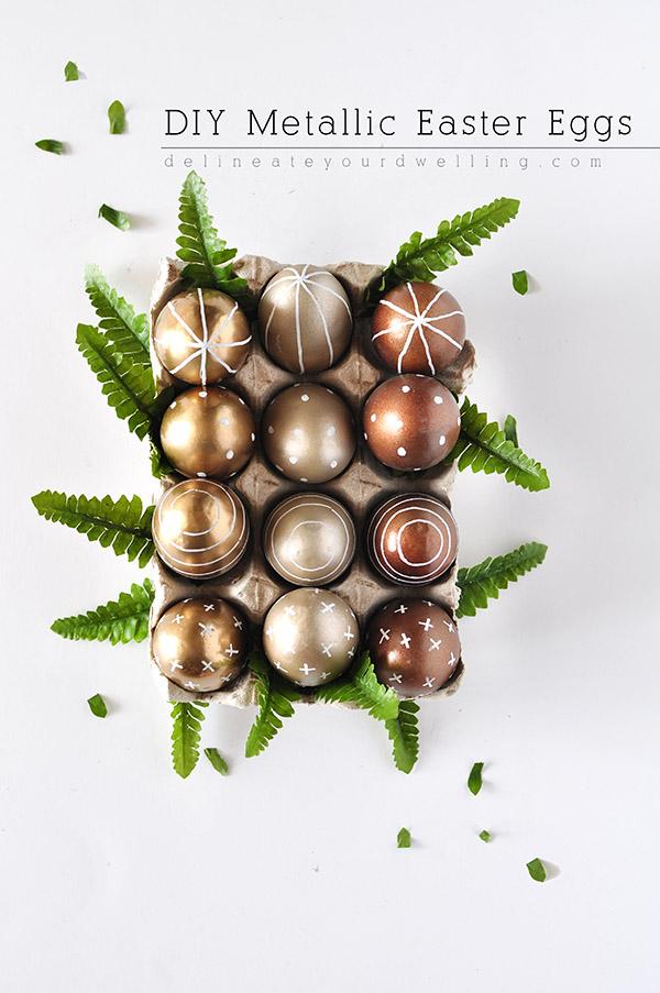 metallic easter eggs DIY
