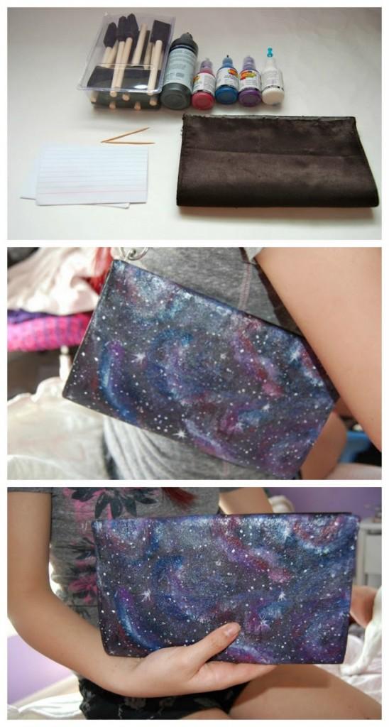 DIY galaxy clutch
