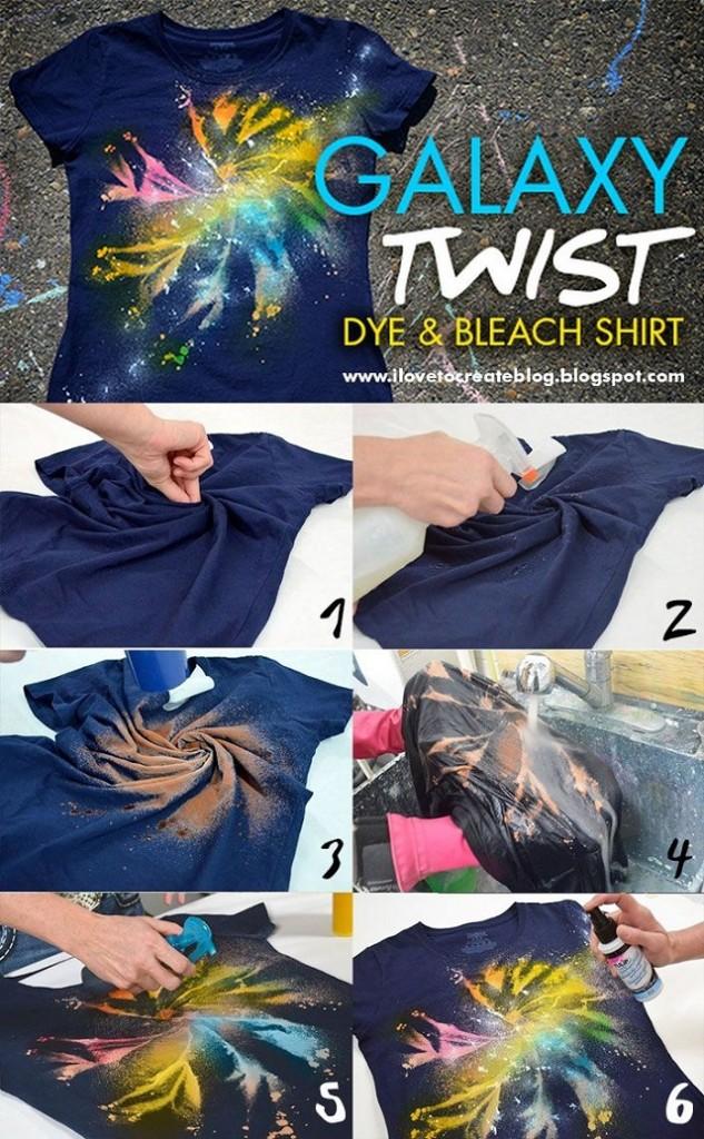 Galaxy twist dye bleach shirt
