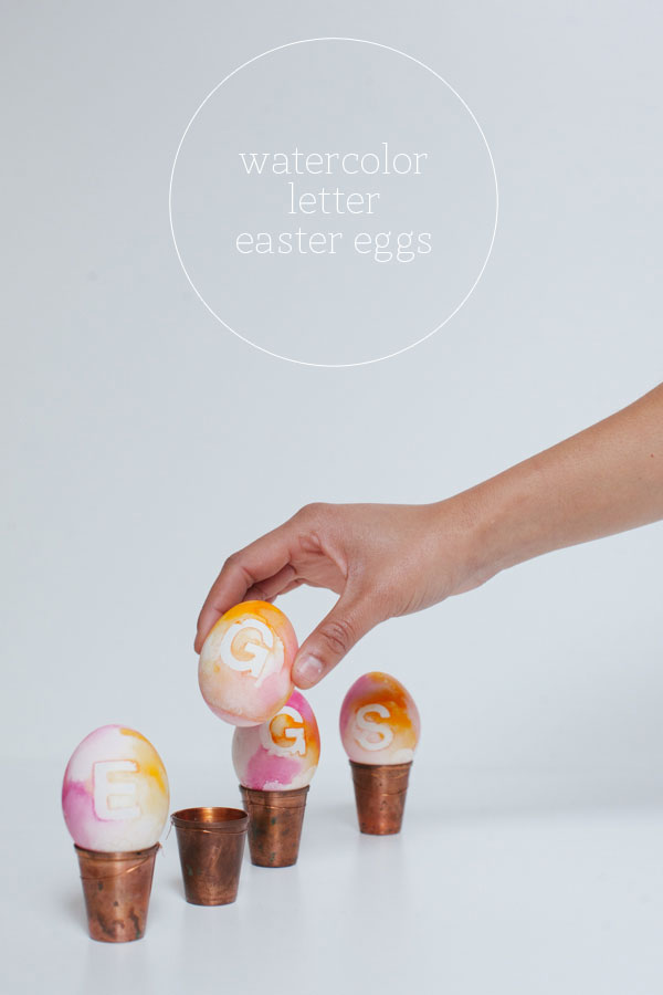 watercolor eggs dye