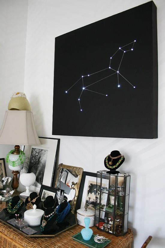constellation wall art tutorial