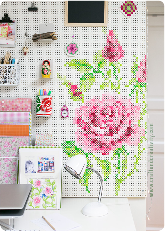 cross stitch pegboard