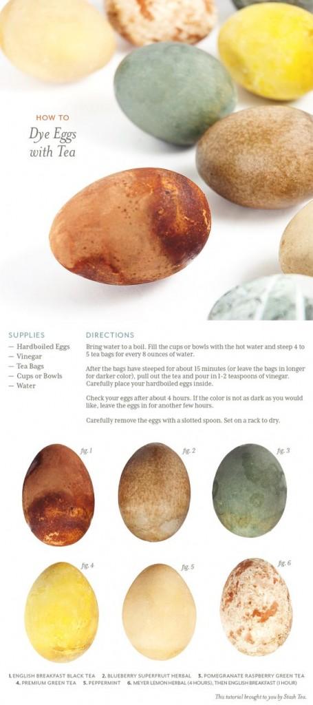 Dyed tea Easter eggs