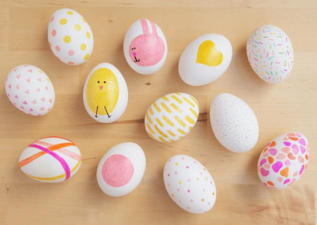 sharpie easter eggs DIY