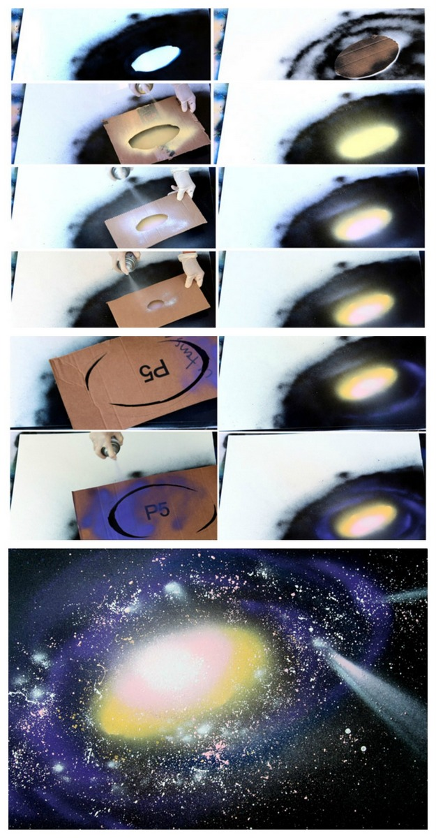 How To Paint Galaxy Of Craftionary