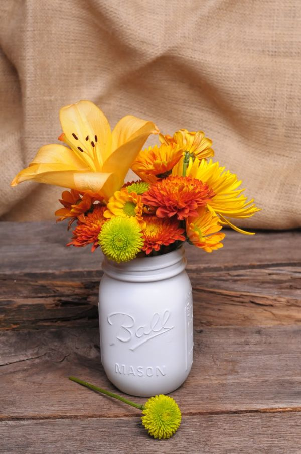 mason jar fall vases