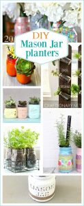 DIY mason jar planters for garden lovers