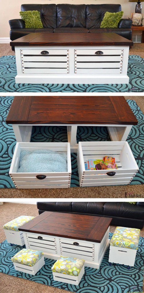 Crate storage bins