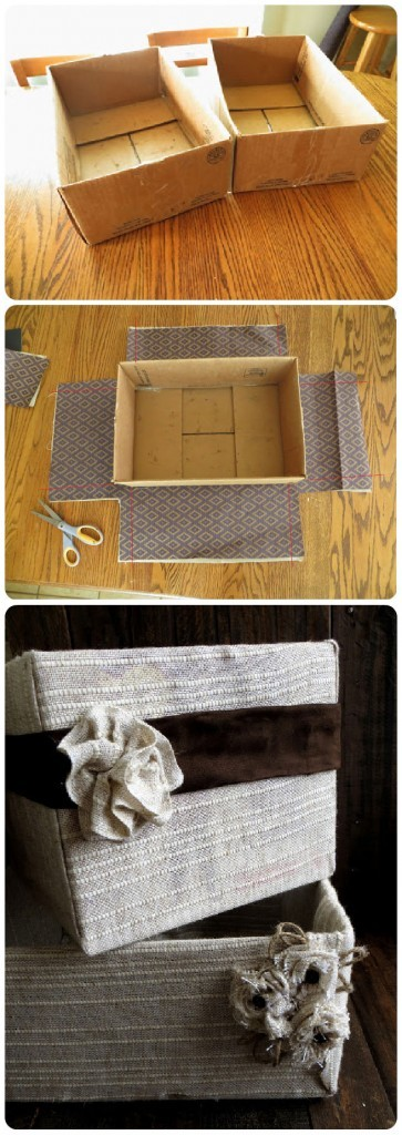 decorated baskets DIY